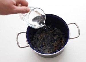 تمیز کردن قابلمه سوخته